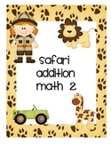 Addition Math Game- Safari Style
