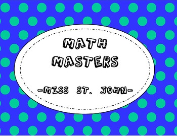 Addition Math Masters