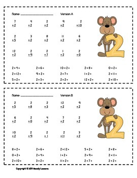 Addition Worksheets 1st Grade Addition Fact Practice Addition Fluency Assessment