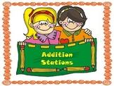 Guided Math Addition Math Stations