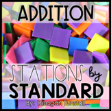 Addition Math Stations First Grade