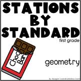 Geometry Math Stations First Grade