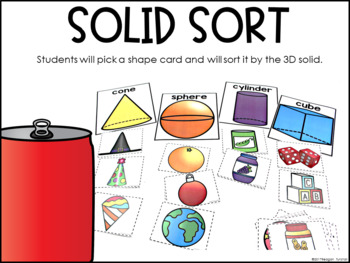 Geometry Math Stations First Grade
