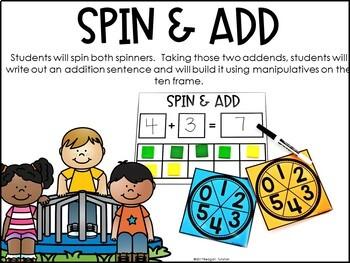 Addition Math Stations Kindergarten