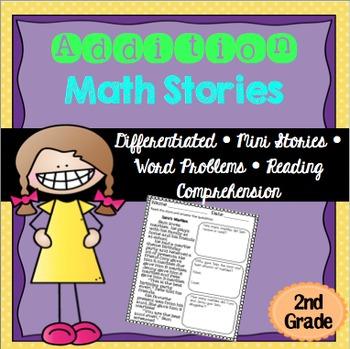 Addition Math Stories Word Problems 2nd Grade