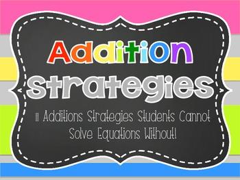 Addition Math Strategies