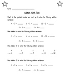 Addition Math Test