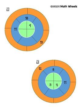 Addition Math Wheels