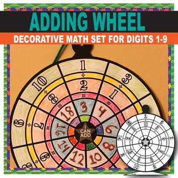 Kindergarten Addition Worksheets  - Colorable Student Work Wheel Display