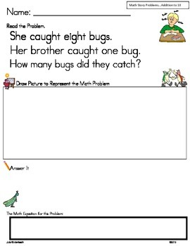 Addition Math Word Problems to 5 ** Read, Draw & Answer It!