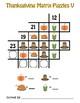 Addition Matrix Puzzles - Thanksgiving Math - CUSTOMIZE!
