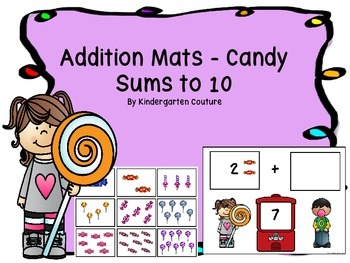 Addition Mats (Candy)-Sums Up To 10