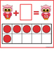 Addition Mats -Valentine Owl FREE