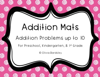 Addition Mats for Addition up to 10