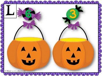 Addition Math Mats for First Grade : Halloween Candy