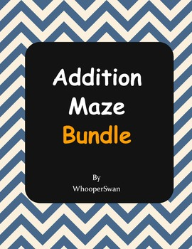 Addition Maze Bundle