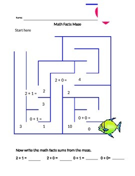 Addition Maze within 2
