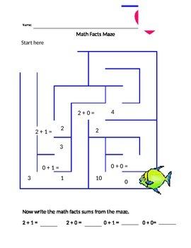 Addition Maze within 2