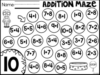 Addition Mazes