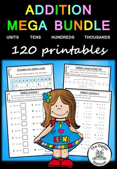 Addition MEGA Bundle – 120 PRACTICE printables