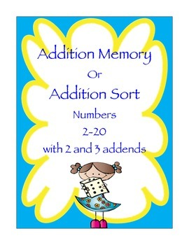 Addition Memory/ Addition Sort with 2 and 3 Addends
