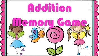 Addition Memory Game (Color Coded)