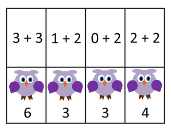 Addition Memory Game (Sums to 10)