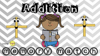 Addition Memory Match Game