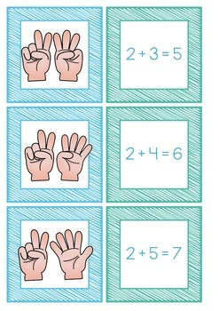 Addition Memory Match Game + Cut and paste worksheets!