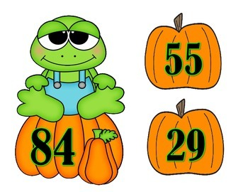 Addition Mental Challenge:  Frogs and Pumpkin
