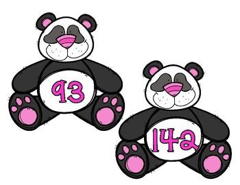 Addition Mental Challenge - Panda Bears
