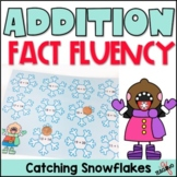 Addition Mental Math Game- Catching Snowflakes