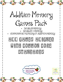 Addition Mental Math Memory Pack - Aligned with Common Core Standards