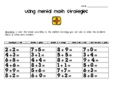 Addition Mental Math Strategies Practice