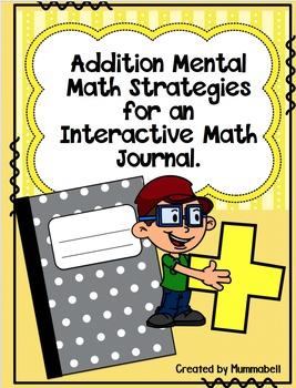 Addition Mental Math Strategies for an Interactive Math Journal