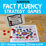 Math Fact Fluency Addition Games - Super Hero Theme