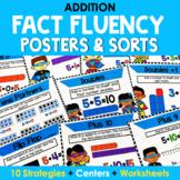 Addition Mental Math Strategy Posters - Superhero Theme