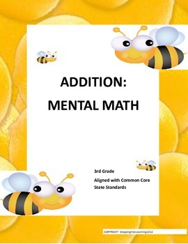 Addition: Mental Math for 3rd Graders