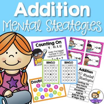 #MemorialDaySavings Addition Mental Strategies - Posters, Games and Activities