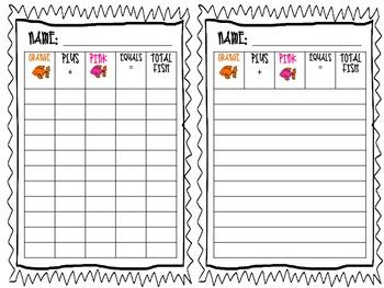Addition Mini Task Cards (Addend 5)