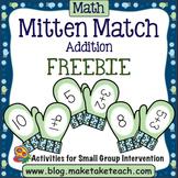 Addition - Mitten Match FREEBIE