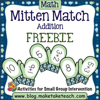 Addition - Mitten Match FREEBIE