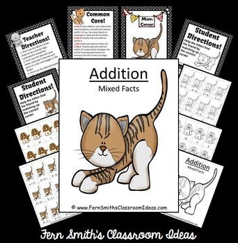 Addition Mixed Facts Center A Quick and Easy to Prep Center Game and Printables