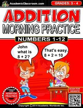 Addition Morning Practice Worksheets
