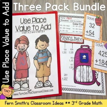 3rd Grade Go Math Lesson 1.4 Addition Multi-Digit Numbers To 1000 Bundle