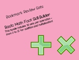 Addition & Multiplication Math Fact Bookmarks