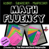 Addition, Subtraction, and Multiplication Math Fact Fluenc