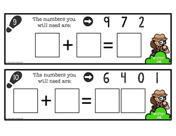 Addition Number Sentence Puzzles