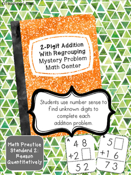 Addition Mystery Digits Math Center