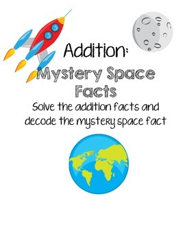 Addition Mystery Fact Worksheets